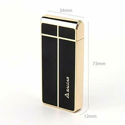Salcar Electronic USB Rechargeable Windproof Lighter - Elegant Gold
