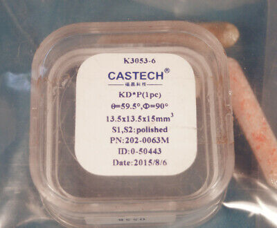 KD*P crystal 13.5 x 13.5 x 15mm Type I 59.5 degree Castech