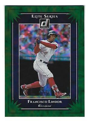 2019 Donruss FRANCISCO LINDOR #ES9 Elite Series Green Parallel 17/25 Indians