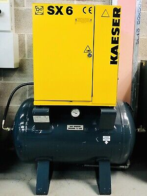 HPC / Kaeser SX6 Receiver Mounted Rotary Screw Compressor! 4.0Kw, 21Cfm Low Hrs!