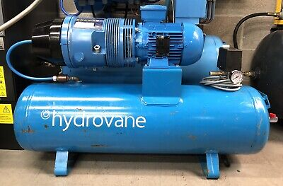 Hydrovane HV01 Receiver Mounted Rotary Vane Compressor 1.1Kw! Three Phase!