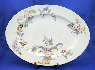 "Rosenthal Ivory Bavaria PERSIANA Continental Oval Serving Platter 13"" Gold Rim"