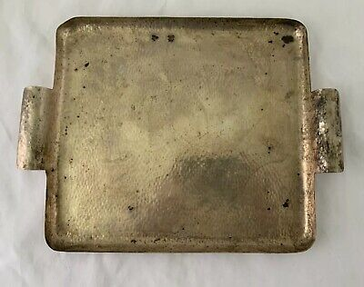 "Austrian Arts and Crafts 800 Silver Hand Made Serving Tray Platter 12 1/2"" 606 G"