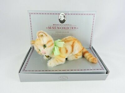 STEIFF Museum Collection plush Tabby Cat 7-in Limited Edition in Box kitten 1928