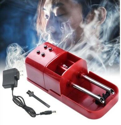 Red  Electric Automatic Cigarette Injector Rolling Machine Tobacco Maker Roller