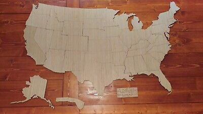 "Extra Large 48"" wide Wood United States of America Puzzle camper travel (831-48)"