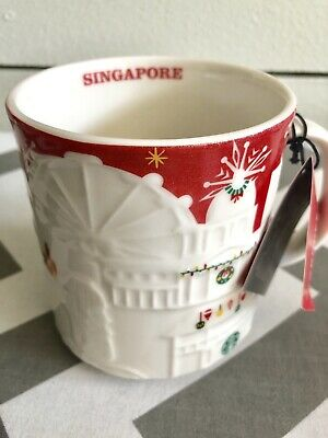 Mug Red Christmas Relief 16oz Global City Singapore Starbucks Holiday Icon In SMVGqUzLp