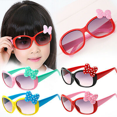 Kids Girls Boys Bow Glasses Sunglasses Cartoon Style Fashion 8 Color Prof