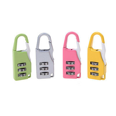 Zinc Alloy Security 3 Combination Travel Suitcase Luggage Code Lock Padlock *FR
