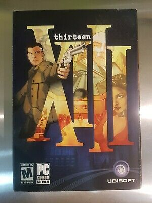 XIII - PC Game Ubisoft Original Release 2003 Complete Like New Condition