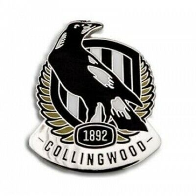 Collingwood Magpies Official AFL Team Logo Lapel Tie Pin FREE POST