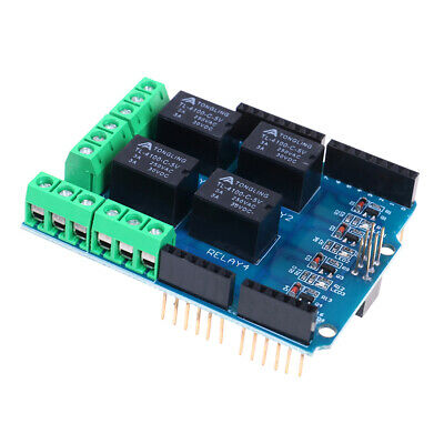 5V 4 Channel Relay Shield Module Relay Expansion Board Module for Arduino  FR