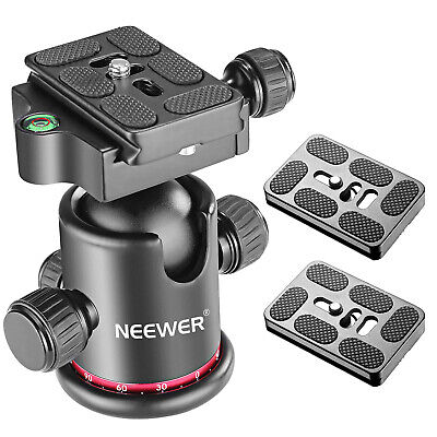 Neewer 360 Degree Rotating Tripod Ball Head with Quick Shoe Plate for Monopod