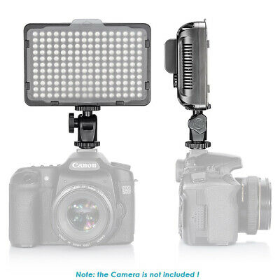 Neewer Dimmable 176 LED Video Light 5600K on Camera Light Panel with Battery