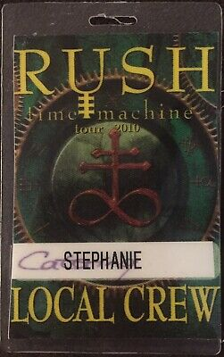 Rush authentic 2010 concert Laminated Backstage Pass Time Machine Tour Peart