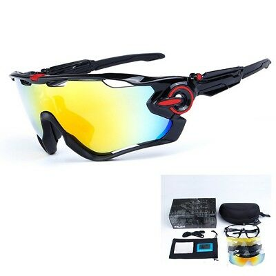 New 3 Pair Lens Polarized Cycling Bicycle Sunglasses Jawbreaker Goggles outdoor