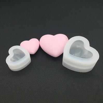 Love Heart Mold 3D Aroma Gypsum Plaster Silicone Mould DIY Candle Resin Molds