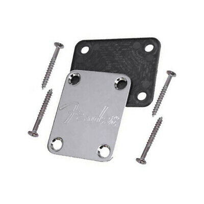 Fender Chrome Neck Joint Plate for Electric/Bass Guitar Strat Tele Universal