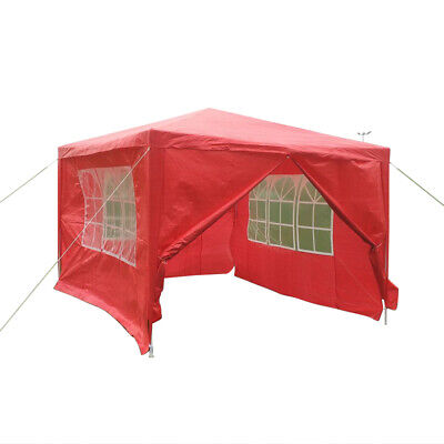 Red 3 x 4m Gazebo Garden Outdoor Waterproof Party Roof Tent Marquee Canopy