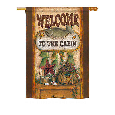 Welcome to the Cabin - Impressions Decorative House Flag Set - HS191055-BO
