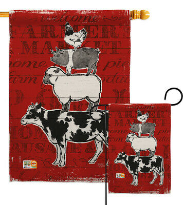 Barnyard Friends - Impressions Decorative Flag Collection - HG110123