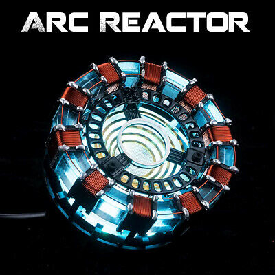 Iron Man Arc Reactor Tony Stark Heart LED USB DIY Model Figure Movie Prop 8 Cm