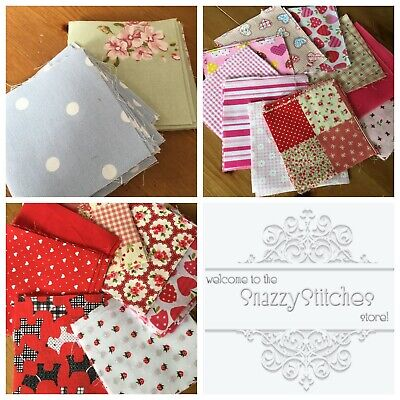 Assortment of Patchwork Squares - Packs of 40 squares