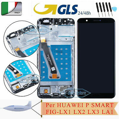 Per HUAWEI P SMART FIG-LX1 LX2 LX3 Schermo LCD DISPLAY TOUCH SCREEN Vetro Nero