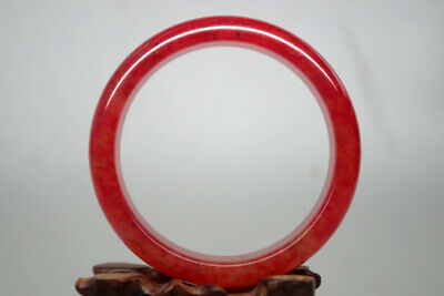 Collectible Chinese Rare Old Natural red blood jade handwork child bangle Tg-023
