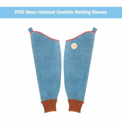 Wear Resistant Cowhide Welding Sleeves Flame Working Arm Protective Safety Tops