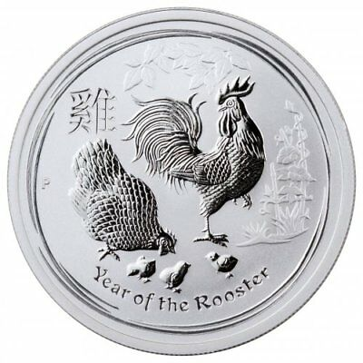 1/2oz Silver Coin Australia - Year of the Rooster 2017