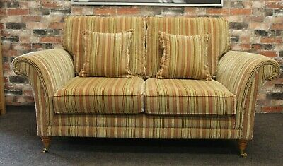 Parker Knoll Burghley 2 Seater Sofa in the Baslow Stripe Fabric (1)