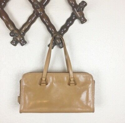 5847434ca39 VINTAGE COLE HAAN Mod Brown Leather Doctor Purse Bag with Dust Cover ...