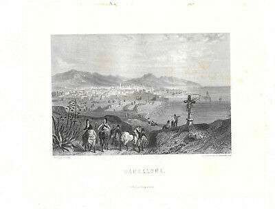 9 fine steelengravings  Spanish and Portugues cities plus Havanna 1857