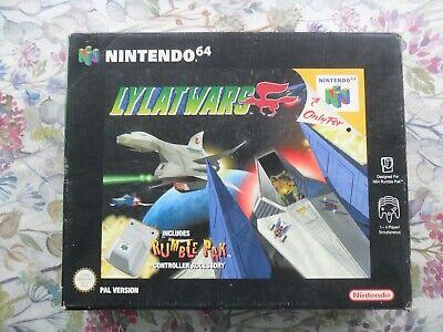 Lylat Wars Big Box with Rumble Pak (Nintendo 64 N64, 1997) Complete with Manual