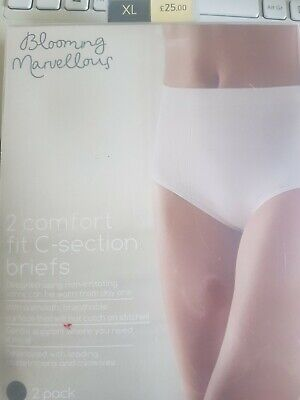 Blooming Marvellous x 2 Comfort Fit Mothercare C-Section Briefs Black XL BNWT