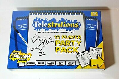 USAopoly Telestrations Party Pack 12 Player Drawing Party Game Brand New Sealed