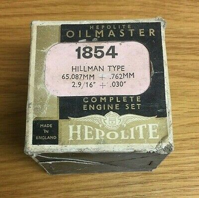 *** HEPOLITE OILMASTER - HILLMAN TYPE Piston Ring Set - Number = 1854 ***