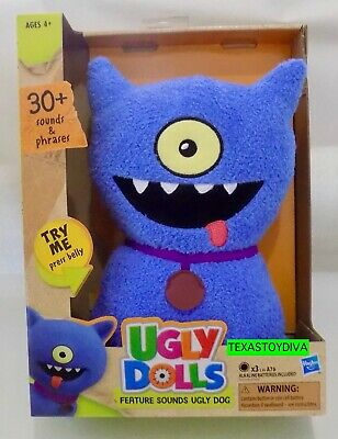 Ugly Dolls Movie Feature Sounds *UGLY DOG* Plush 30+ Sounds Phrases Talks 2019
