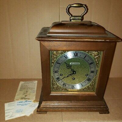 Seth Thomas 8Day Legacy-3W 1314-000 Mantel Table Clock Westminster Chime