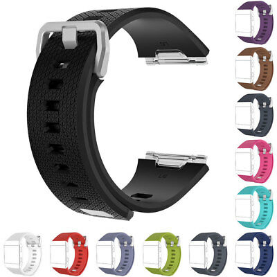 Replacement Wrist Band Silicon Strap Bracelet+Buckle For Fitbit Ionic Size S / L