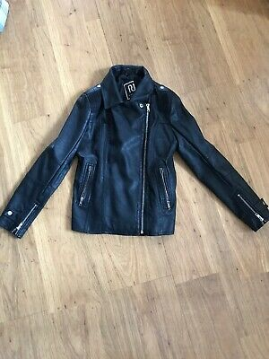 River Island Girls/boys Faux Leather Biker Jacket Age 11