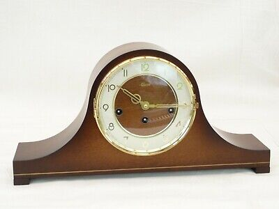 Hermle 8 Day Walnut Westminster Chime Napoleon Mantle Mantel Chime Clock
