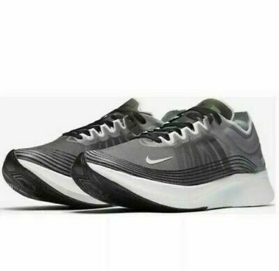 d6796782ad4a5 Men s SZ 10.5 Nike Zoom Fly SP Running Shoes Grey White Black Bone