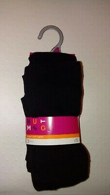 New Nutmeg 3 Pack of Supersoft Black Tights Age 5/6 Years 110-116cm