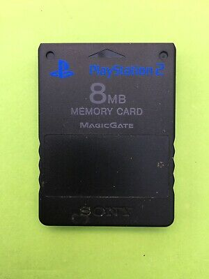 Official Sony Playstation 2 8MB Black PS2 Memory Card Genuine + Free UK Delivery