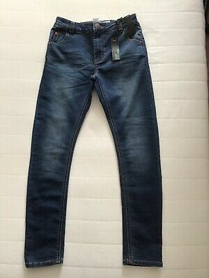 BNWT Next Boys Jersey Look Denim Skinny Jeans Sz 11 Years (146 Cm)