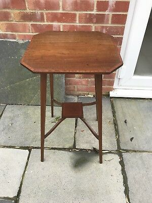 Small Size Edwardian Mahogany Inlaid Two Tier Side Table