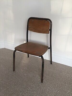 Vintage Original 1960's Stacking School Chair - Industrial Table Stand Chair