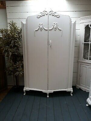 Grand Vintage Painted Large French Style Wardrobe Lovely Interior Shabby Chic
